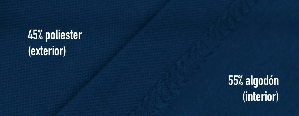 Muestra tejido pique de los polos chintex