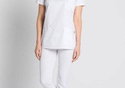 chaqueta clásica sanitario mujer con pico