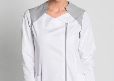 chaqueta sanitaria moderna, bicolor. Dyneke