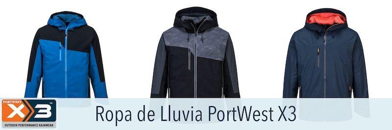 Portwest Modelos X3. Prendas protección frente a lluvia